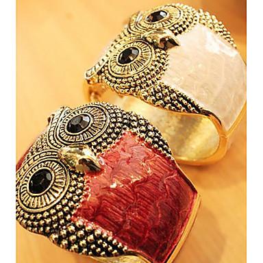 Canlyn Women's Fashion Wide Owl Pattern Bracelet