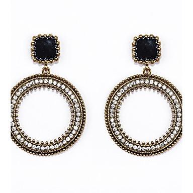 Dámské Štras Umělé diamanty Visací náušnice Náušnice - Kruhy - Luxus Circle Shape Náušnice Pro Svatební Párty Denní