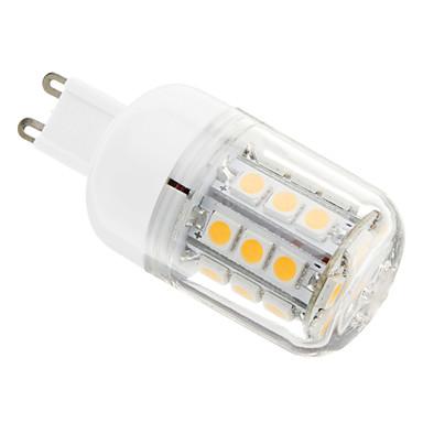 G9 Becuri LED Corn 30 led-uri SMD 5050 Alb Cald 400lm 3000-3500K AC 220-240V