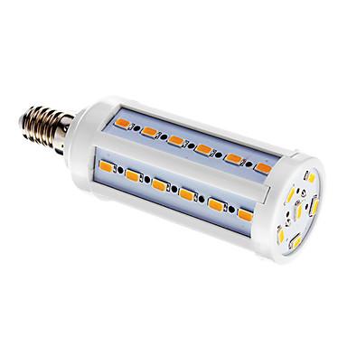 800 lm E14 Becuri LED Corn T 42 led-uri SMD 5730 Alb Cald AC 220-240V