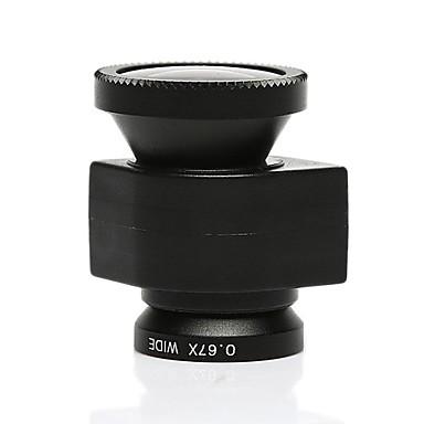 3-in-1, 0.67x širokoúhlým objektivem fisheye180 stupeň objektiv makro objektiv nastaven na iPhone 5 / 5s, černá