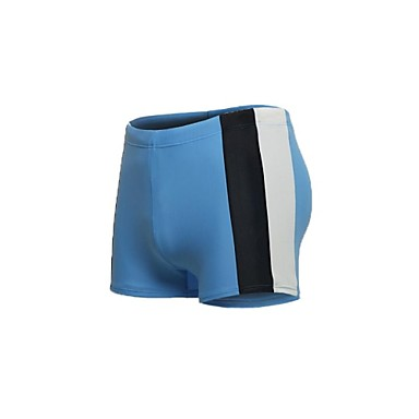 Jaggad Men's Nylon Spandex Front Lined Light Blue Boxers Swim Shorts