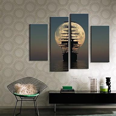 Reprodukce maleb na plátně Sady pláten Krajina Čtyři panely Vertikální Grafika Wall Decor Home dekorace