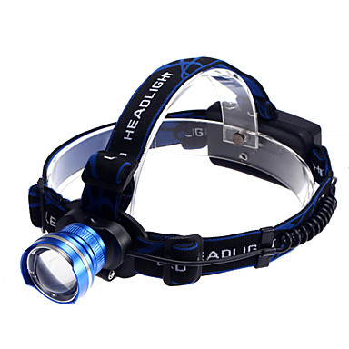 Headlamps Headlight LED 1200 lm 3 Mode Cree XM-L T6 Zoomable Rechargeable Waterproof Super Light Compact Size Small Size