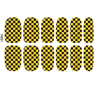 2014 Mest populære gyldne og Black Blided Glitter Nail Art Patch Stickers 3D