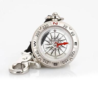 T49 Multi-funcția de Pirate Compass Curea / keychain umplute cu lichid - argint