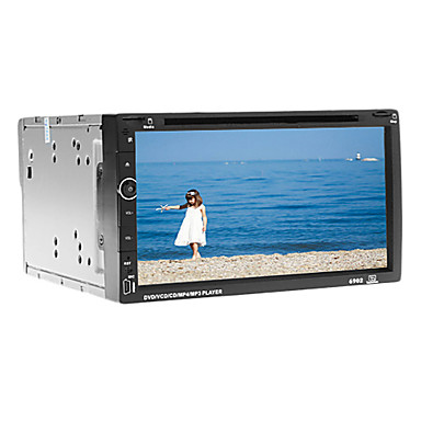 6.95inch 2 DIN 800 x 480 Windows CE 6.0 / Windows CE Car DVD Player  for Built-in Bluetooth / GPS / iPod 617 DVD-R / RW / DVD+R / RW / AVI