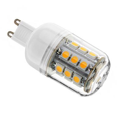 3W G9 LED-kolbepærer T 27 SMD 5050 350 lm Varm hvid Justérbar lysstyrke AC 220-240 V