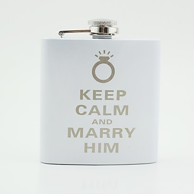 Stainless Steel Hip Flasks Couple Wedding
