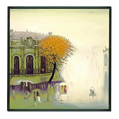 peisaj în fața bisericii încadrată pictura în ulei acasă decor
