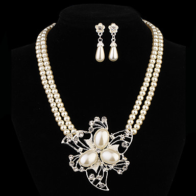 Women's Pearl Jewelry Set Earrings / Necklace - Jewelry Set For Party / Daily / Casual