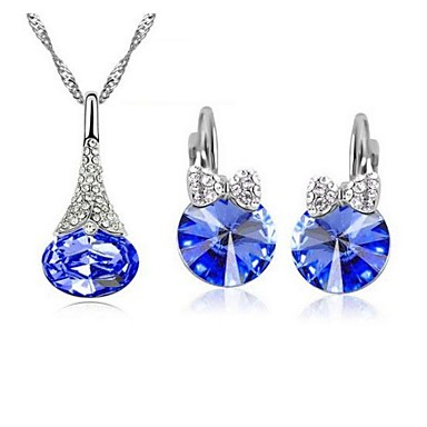 Jewelry Set Women's Party Jewelry Sets Alloy / Rhinestone Rhinestone Necklaces / Earrings Silver