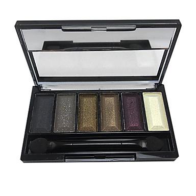 6pcs Auge Lidschatten Puder Smokey Makeup / Alltag Make-up