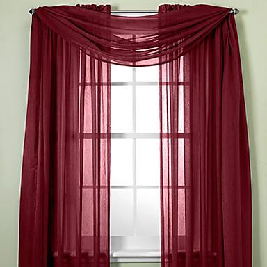 Dva panely Window Léčba Moderní Jednobarevné Obývací pokoj Polyester Materiál Sheer Záclony Shades Home dekorace