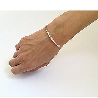 abordables Bracelet-Bracelet à Perles Femme Perlé Perle unique Mode Bracelet Bijoux Dorée pour Soirée Quotidien