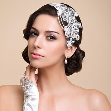 Künstliche Perle Spitze Strass Stirnbänder 1 Besondere Anlässe Kopfschmuck