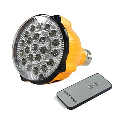 E27 4W LED White Bulb Rechargeable Emergency Light Flashlight Spotlight with Remote Control