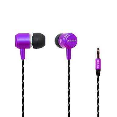 Moda AWei Q353.5mm Plug In-Ear aluminijske legure Super Bass slušalice