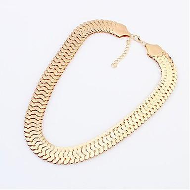 Damen Statement Ketten - Personalisiert, Europäisch Gold, Silber Modische Halsketten Schmuck Für