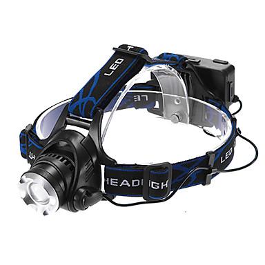 Stirnlampen LED 1200lm 3 Beleuchtungsmodus Zoomable- / einstellbarer Fokus / Wiederaufladbar Multifunktion