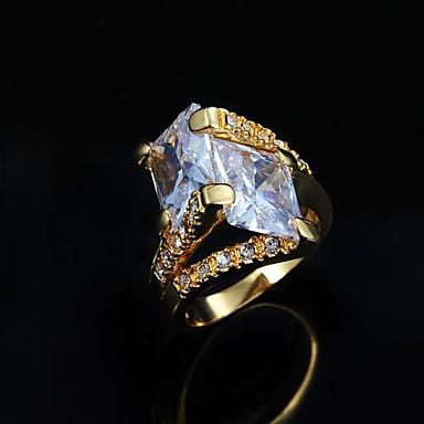 Pentru femei Articole de ceramică / 18K Aur Band Ring - Modă Argintiu / Auriu Inel Pentru Zilnic / Casual / Zirconiu Cubic
