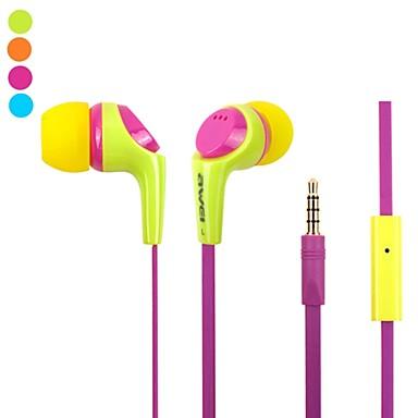 Moda Awei Q6i 3.5mm Plug In-Ear aliaj de aluminiu Super Bass microfon căști-(Galben / / Albastru)