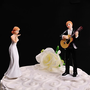 wedding cake topper man with guitar cake topper non personalized classic resin wedding 26352