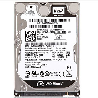 WD 500GB Laptop / Notebook Hard Disk Drive 7200rpm SATA 3.0 (6 Gb / s) 16 MB. Mezipaměti 2,5
