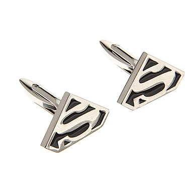 Forma de moda S Simbol aliaj de argint Butoni (1 pereche)