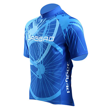 Jaggad Men's Short Sleeve Cycling Jersey Bike Jersey, Quick Dry, Breathable Polyester