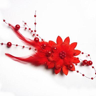 Pentru femei Flori Elegant, Imitație de Perle Material Textil Agrafe Păr