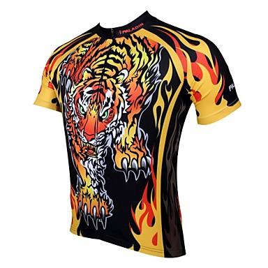 ILPALADINO Cykeltrøje Herre Kortærmet Cykel Trøje Toppe Cykeltøj Hurtigtørrende Ultraviolet Resistent Åndbart Dyr Tegneserie Fritidssport