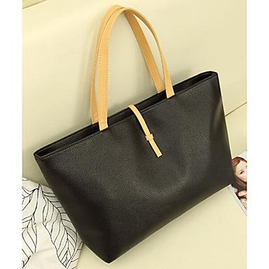 Wangyu Dámská Nový styl Jednoduché PU Leather Tote