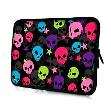 Multicolor Skulls Mønster Laptop Sleeve Case for 15,4