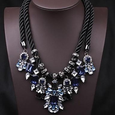 Dames Luxe Opvallende sieraden Europees Verklaring Kettingen Kristal Synthetische Edelstenen Verklaring Kettingen ,