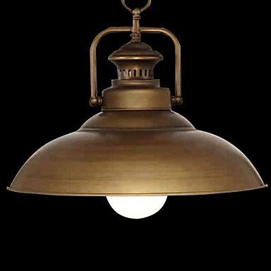 Retrorød Vedhæng Lys Til Stue Pære ikke Inkluderet