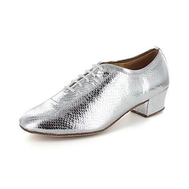 Damen Schuhe für modern Dance / Ballsaal / Praxis Schuhe Kunstleder Oxford Blockabsatz Keine Maßfertigung möglich Tanzschuhe Grau /