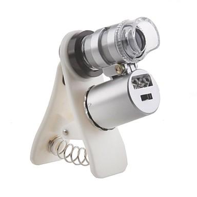 92f5aba90ad Clip universal 60x microscopio ampliación para iphone / ipad y el teléfono  celular (con luz