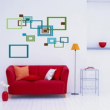 Createforlife ® Farverige abstrakt Rammer Kids Nursery Room Wall Sticker Wall Art Decals