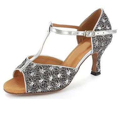 Personalizate de pantofi pentru femei Professional spumante / Glitter Upper Ballroom Salsa Dance Latin