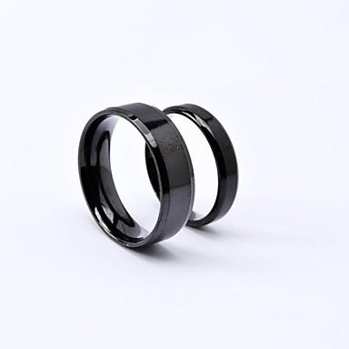 Pánské Dámské Snubní prsteny Černá Titanová ocel Kulatý Punk Denní Ležérní Kostýmní šperky