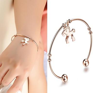 Beautiful Fashion Horse Quality Titanium Plating Rose Gold Bracelet