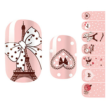28PCS Roz Romantic Paris design Nail Art Stickere