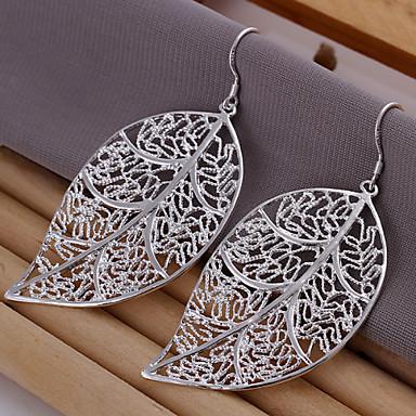 Beszúrós fülbevalók minimalista stílusú Leaf Shape Ékszerek Mert 2pcs