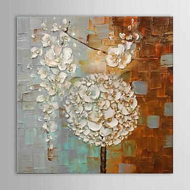 Hånd-malede Abstrakt Firkantet,Moderne Et Panel Kanvas Hang-Painted Oliemaleri For Hjem Dekoration