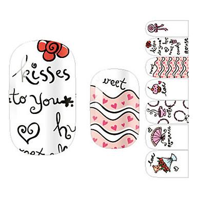 28 3D-стикеры для ногтей Мультяшная тематика Мода Милый Высокое качество Повседневные