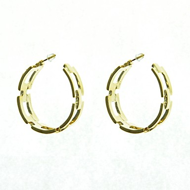 Hoop Earrings Alloy Jewelry Wedding Party Daily Casual