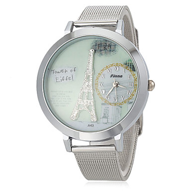 Women's Tower Dial Steel Band Quartz Wrist Watch Cool Watches Unique Watches