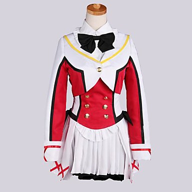 Inspired by Love Live Hanayo Koizumi Anime Cosplay Costumes Cosplay Suits Patchwork Long Sleeves Coat Vest Shirt Skirt Socks For Women's