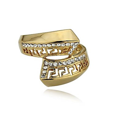 Women's Band Ring Gold Gold Plated Fashion Wedding Party Daily Costume Jewelry